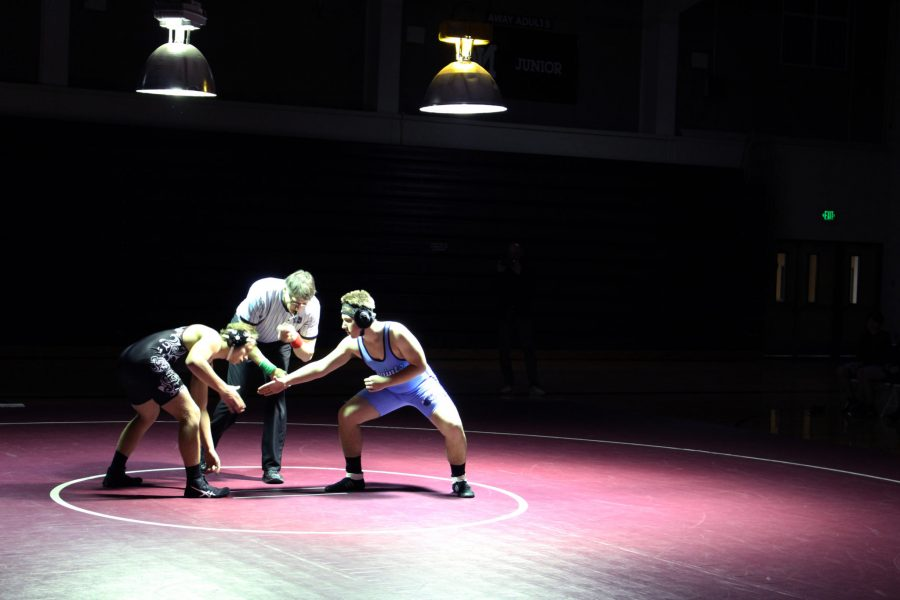 Wrestling Beats Liberty at Senior Night