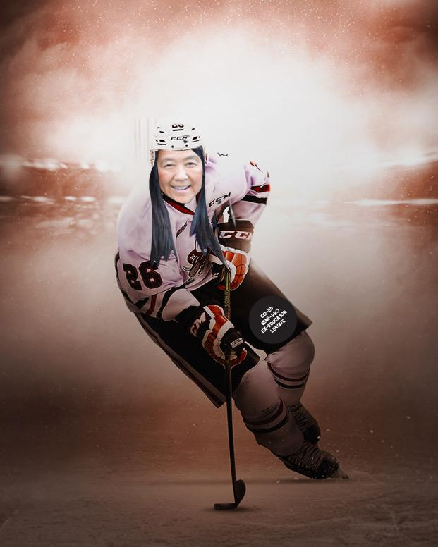Puckett is set to begin her career in the Co-ed Semi-pro Ex-educator Hockey League in September. Graphic by Annie Poole